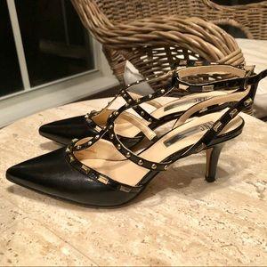 d0d7d7c6904 INC International Concepts Shoes - I.N.C. Carma Pointed Toe Studded Kitten  Heel Pumps